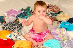 Modern, colourful real nappies (large version)