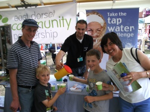 Tap water challenge taking place at the Wild about Wimborne event (large version)