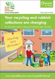 Leaflet for Christchurch and East Dorset residents about changes to recycling and rubbish collections this October